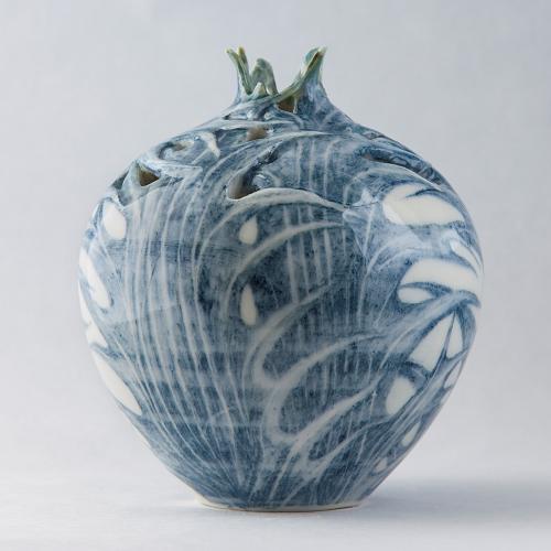 Sea Holly Relief Vase